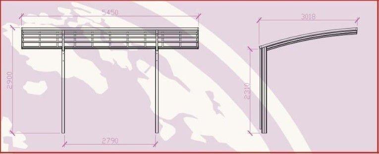 Modern style aluminum frame carport buy aluminum carport for Carport detail