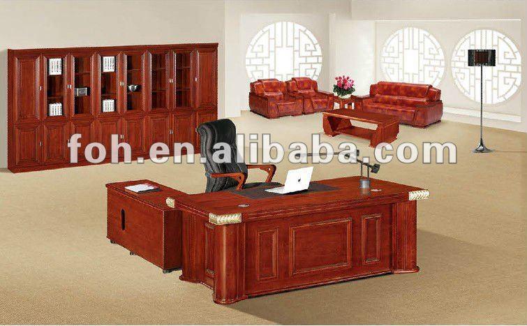 Rouge en bois directeur bureau bureau mobilier foha 6024 buy