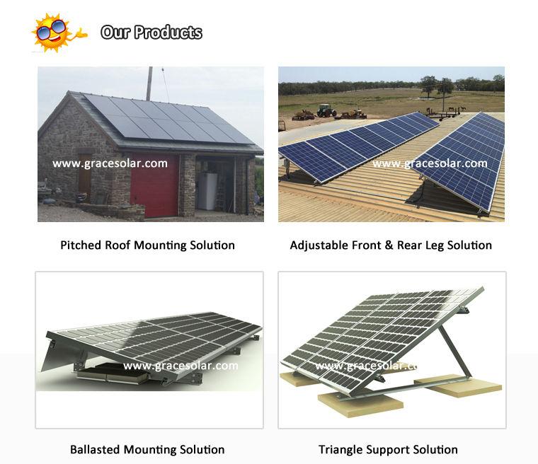 Pv Solar Panel Rack For Pitch Tile Roof Solar Bracket