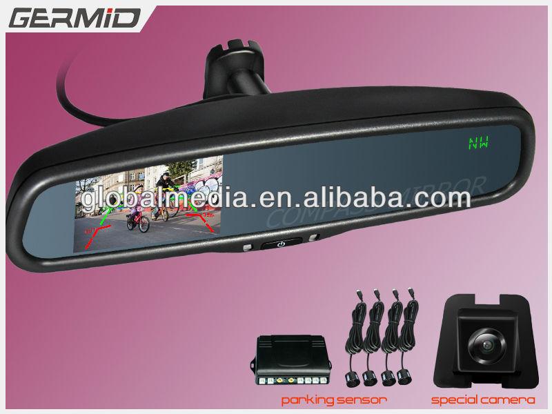 4.3 Inch Car Rear View Mirror Wireless,2avin,Phonebook Display ...