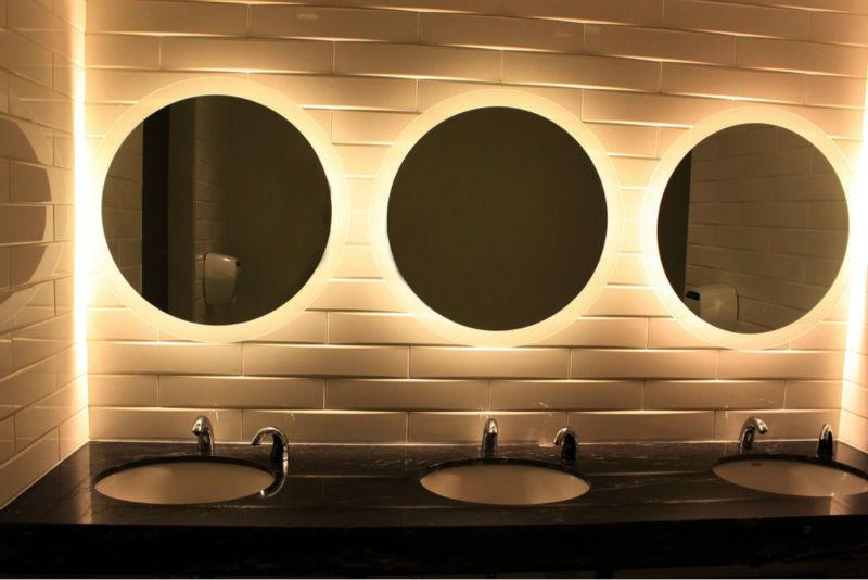 Voorkeur Amerikaanse Decoratieve Ronde Spiegel Met Verlichting - Buy LS07