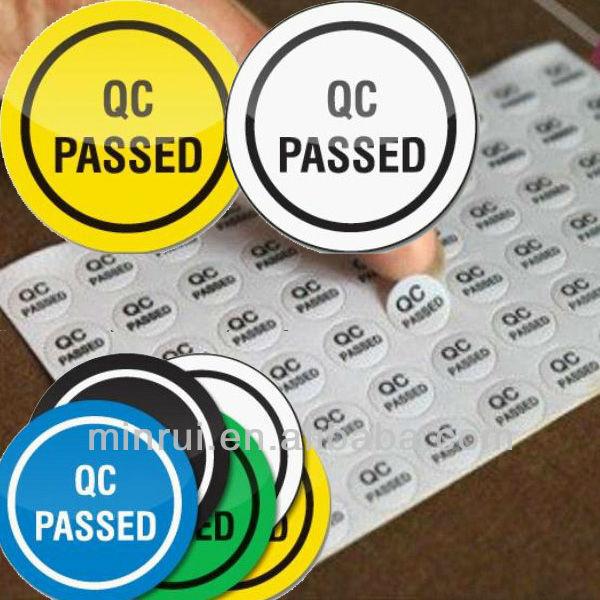 Custom Qa Qc Label Qc Pass Sticker Qc Passed Label Buy
