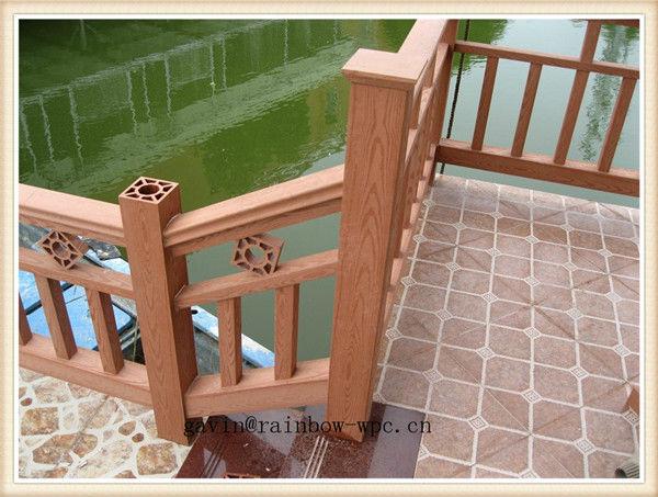 nuevo producto de ingeniera de madera pasamanos de escalera exterior