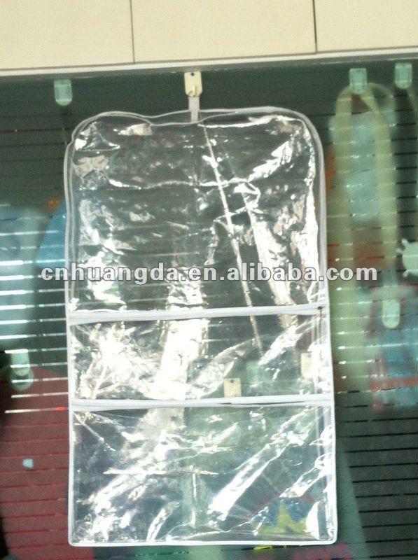High Quality Clear Plastic Zipper Garment Bag