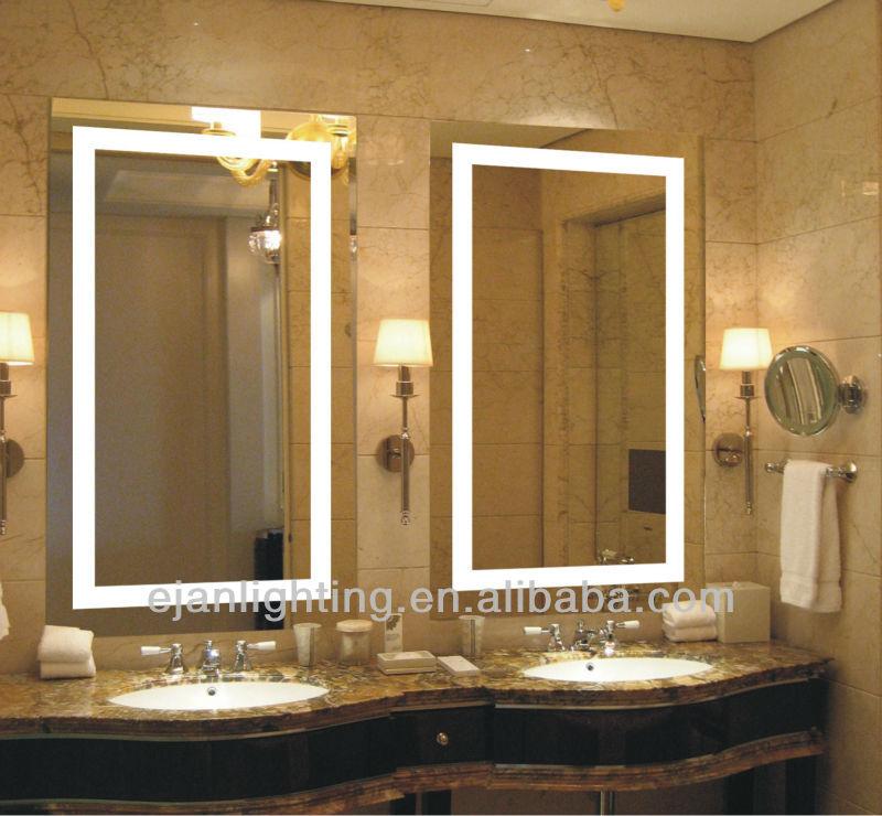 Ip44 Led Lighted Frameless Bathroom Mirror Frameless