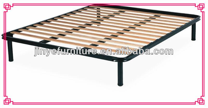 metalen bed frame met houten latten voor eenvoudige bed zachte bed