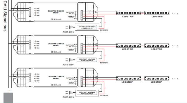 1122284521_755 bc 341 constant voltage dc12v 24v single channel dali led driver dali led driver wiring diagram at bayanpartner.co