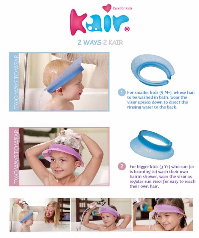 KAIR Air Cushioned Bath Visor Shower Shampoo Shield Baby