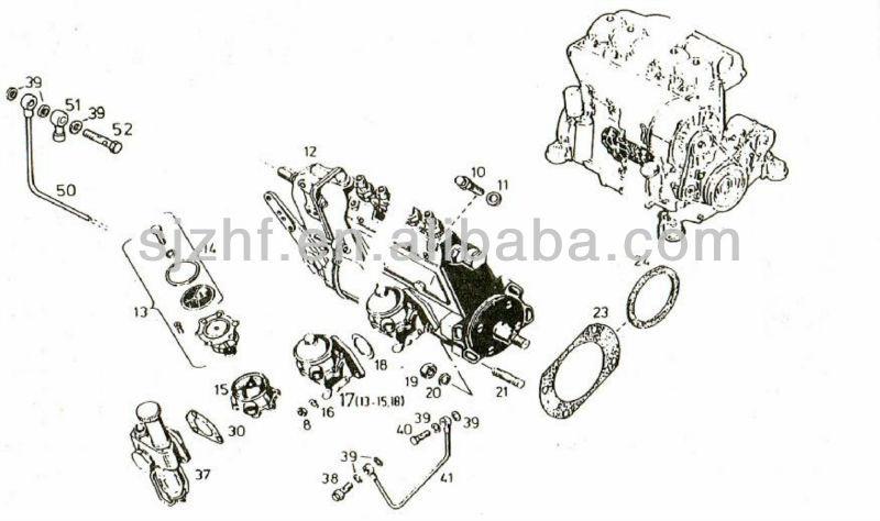 deutz engine diaphragm type fuel supply pump for fl912