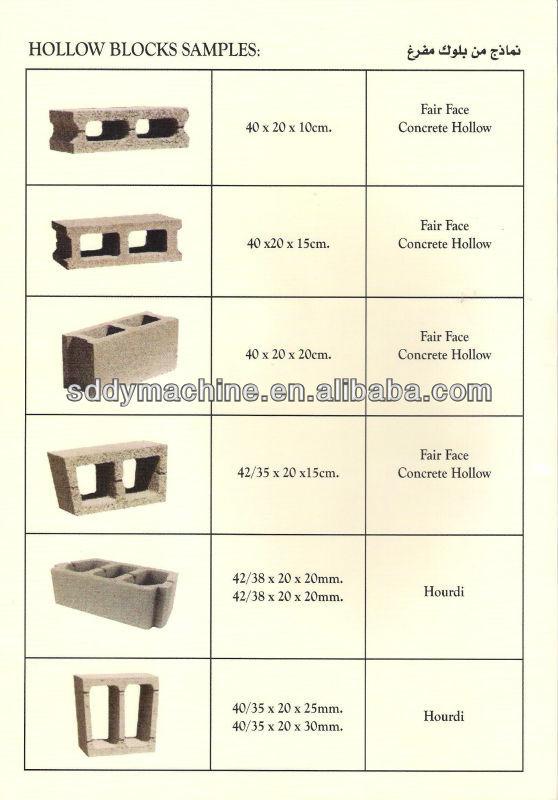 Concrete Hydraulic Hollow Block Interlock Brick Machine