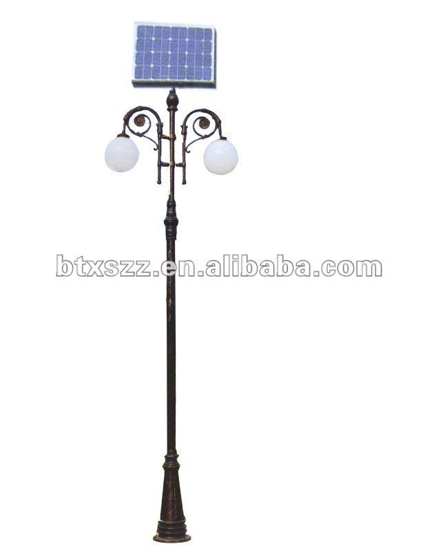 Outdoor Street Garden Park Solar Dc Cast Iron Lamp Post In China ...