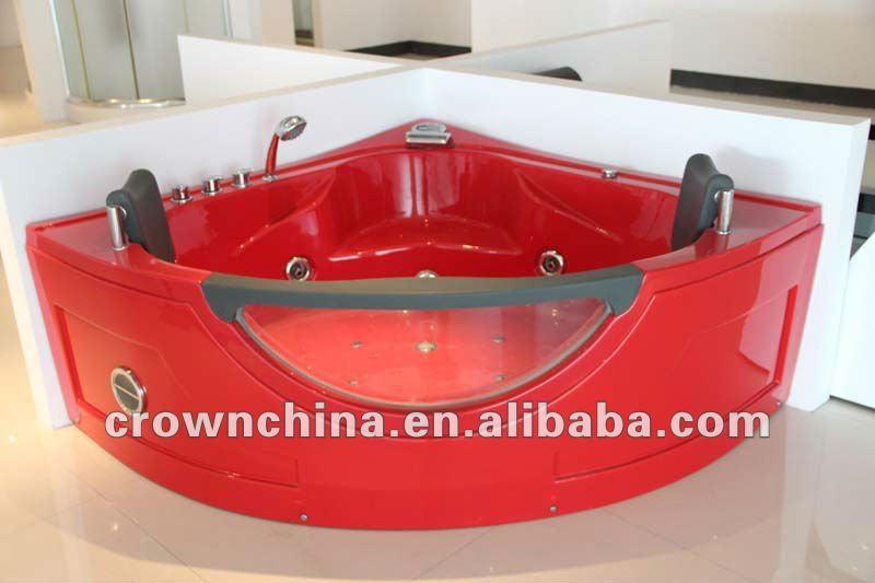 Vasca Da Bagno Rossa : Di lusso rosso massaggio grande vasca da bagno con getti d acqua