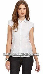 fotos oficiales 93244 8cb4c Manga Corta Camisa Blanca Para Las Mujeres - Buy Media Manga Camisa Para  Las Mujeres,Para Las Mujeres,Camisa Blanca Product on Alibaba.com