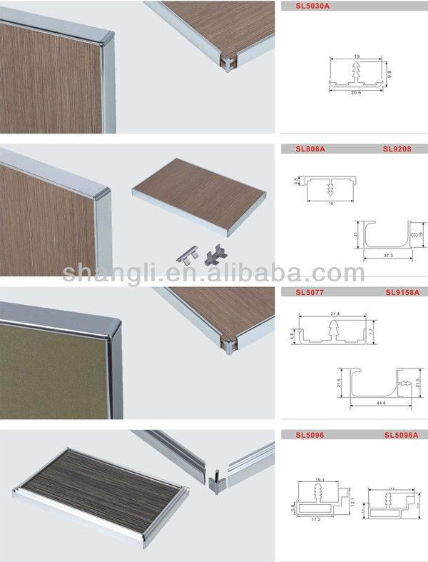 Aluminum Edge Profile T Profile For Cabinet Door Sl5022