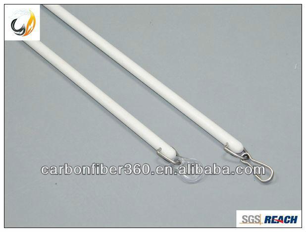 White Fiberglass Baton For Drapery Hardware 9 5mm Curtain
