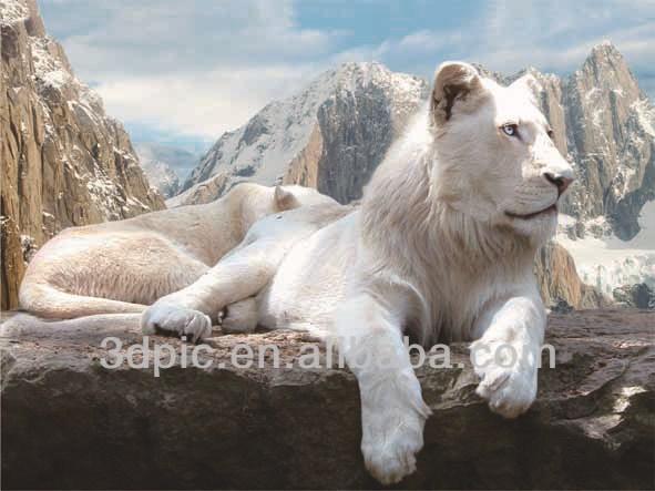 Witte leeuw 3d dier foto 39 s buy product on - Huis placemat wereld ...