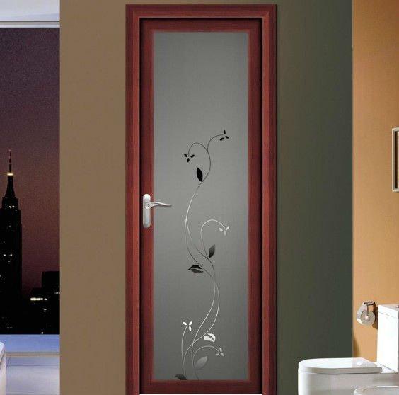 Door Aluminium Design Aluminium Double Glazing Blue Glass White Frame Indian Exterior Main