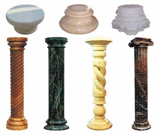 Natural Stone Pillars : Natural round stone columns buy