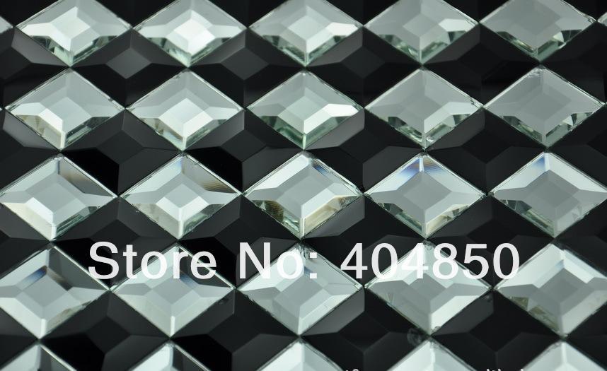 Facet Tegels Wit : 13 facet geslepen glas en zilver paars mooie diamant mozaïek spiegel