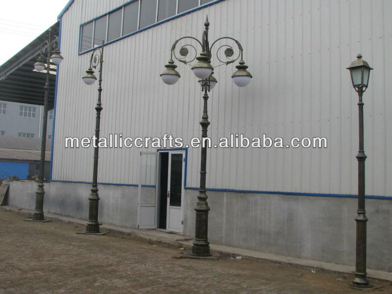 Cast Iron Solar Decorative Street Lamp Post Cast Aluminum