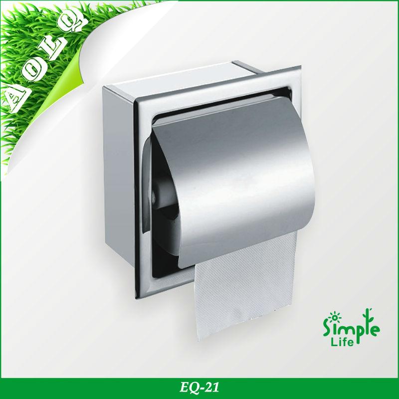 stainless steel paper dispenser recessed toilet paper holder kitchen tissue paper roll holder