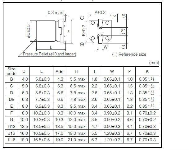 22uf 6 3v Eeefk0j220r Smd Aluminum Electrolytic Capacitor