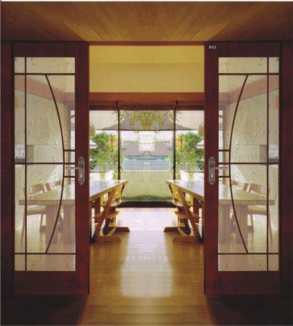 Puertas de madera con vidrio good puertas vidrio madera for Puertas interiores de madera con cristal
