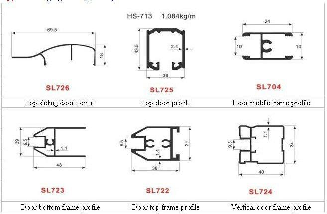 Aluminium Glass Frame Sliding Door Frame Profile Buy