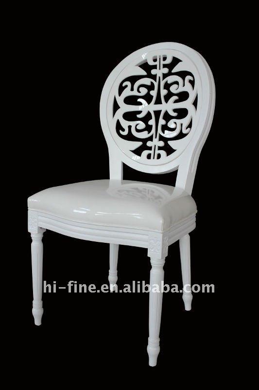 2015 Wedding Louis Chair Acrylic Leather White