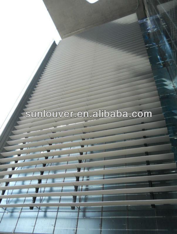 Architectural Aluminium Louver For Facade Can Be Fixed Or
