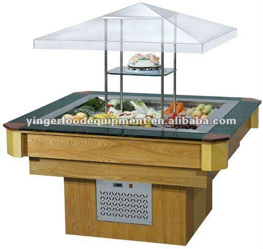 Round Type Salad Bar Buy Salad Bar Refrigerated Salad