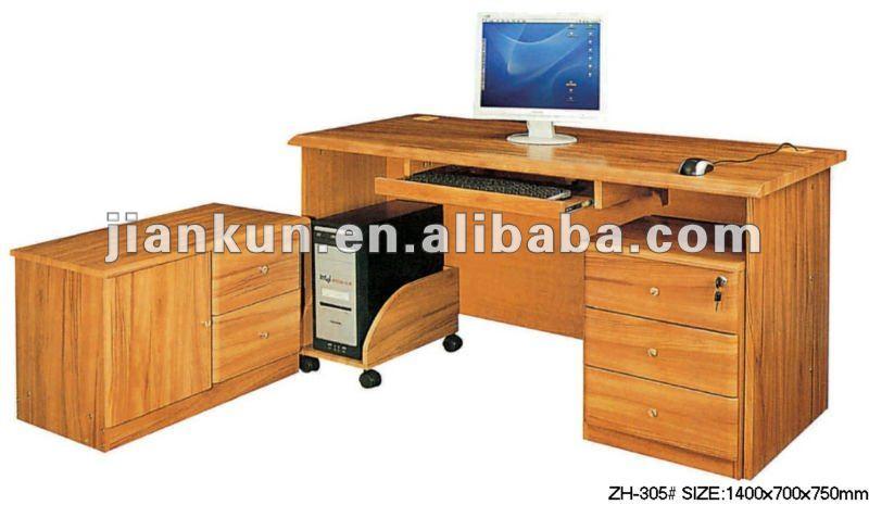 home office work workstation pc desktop cheap wooden computer desk zh308