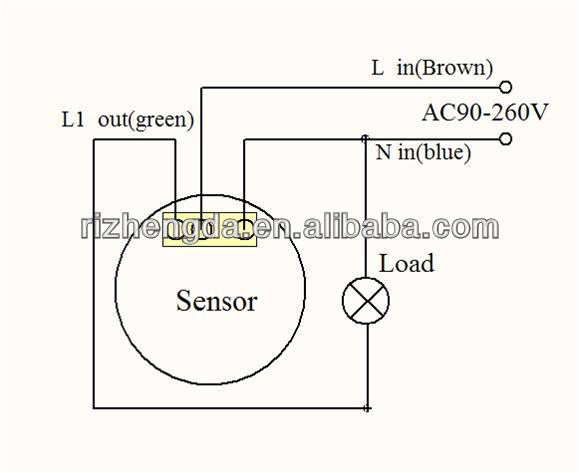 1149093534_042 r666 110v 220v led pir human sensor ceiling light switch 3 wire day night sensor wiring diagram at panicattacktreatment.co