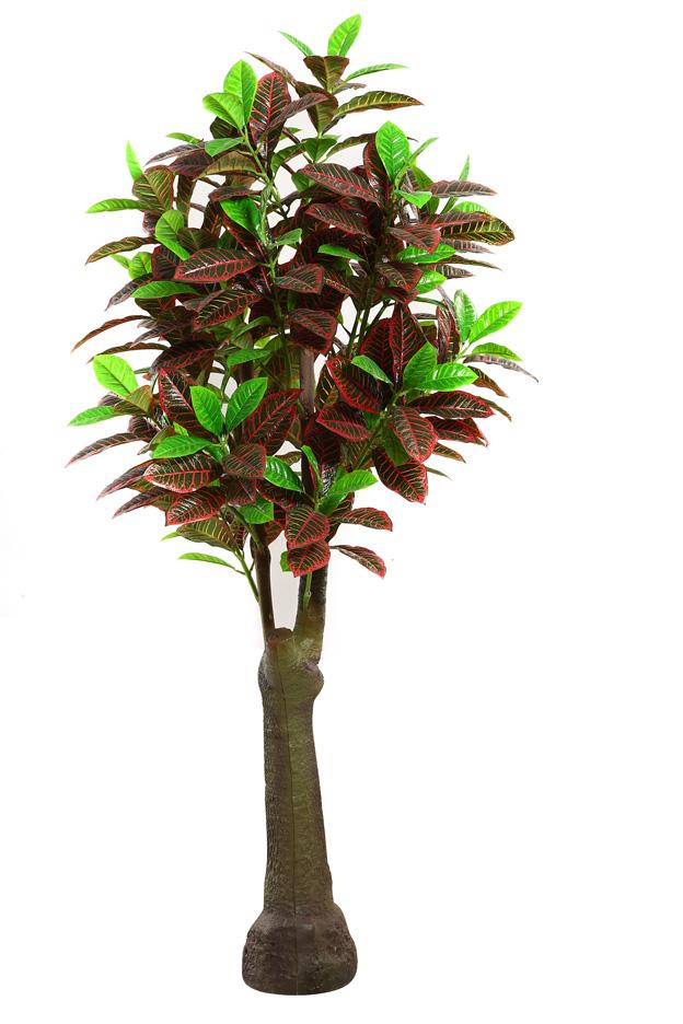 Grande artificial codiaeum variegatum rbol cambio deja for Arbol interior