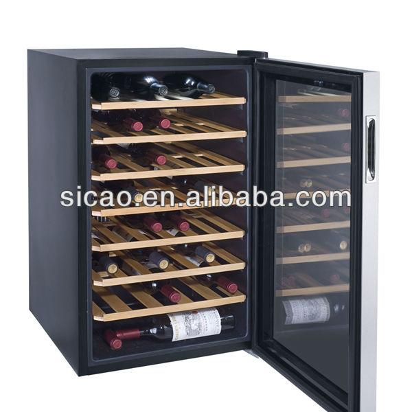Compressor Mini Champagne Fridge Glass Commercial Bar