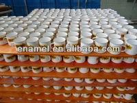 Us Popular Small White Enamel Popcorn Metal Bowl For Kids - Buy ...