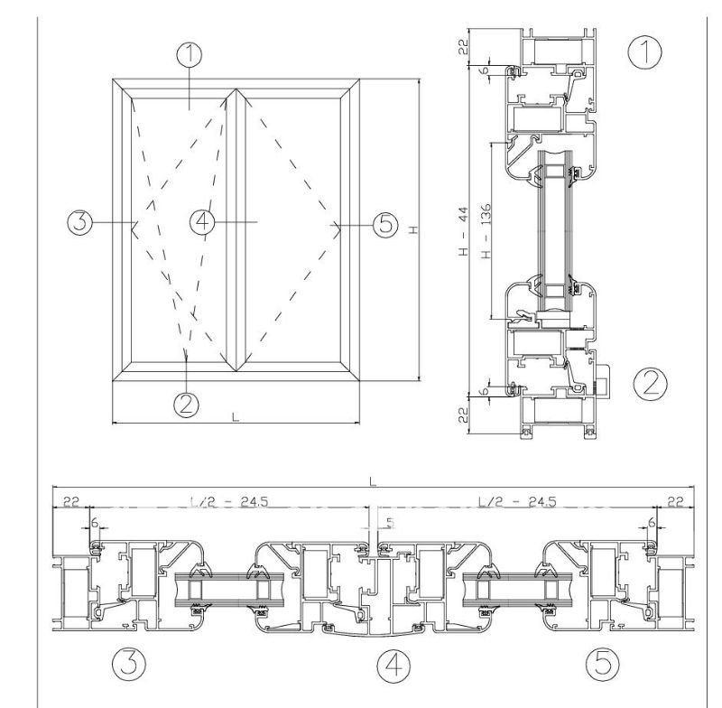Aluminum Window Details : Window drawing detail casement details sc st