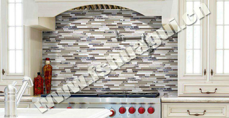linear kitchen backsplash glass marble mosaic wall tiles