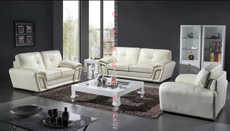 Zwart Lederen Bank In De Woonkamer Set/goedkope Sofa Set/goedkope ...