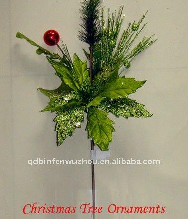 acrilico artificial flores de tela para arbol de navidad adornos