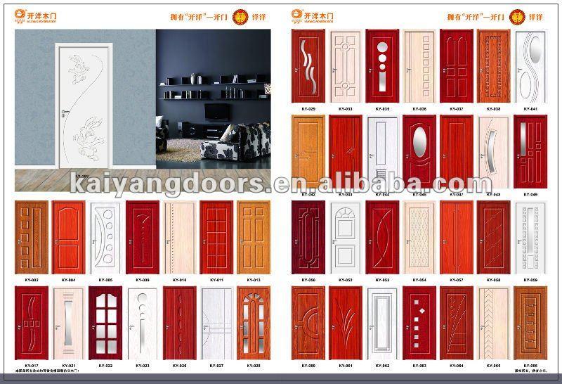 Kaiyang quality interior hotel badroom pvc mdf wooden glass door designer