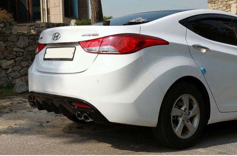 Hyundai Elantra Dual Rear Diffuser Buy Rear Diffuser Elantra Dual Rear Diffuser Rear Skirt