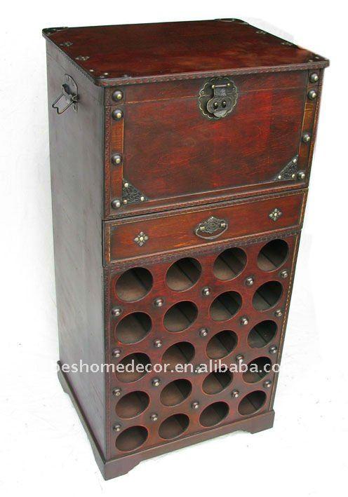 Antique wine rack wine cabinet wooden wine holder buy for Old wine rack