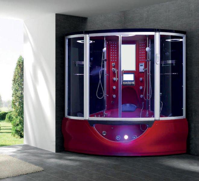 acrylic wet steam shower cabin luxury shower room wmassage