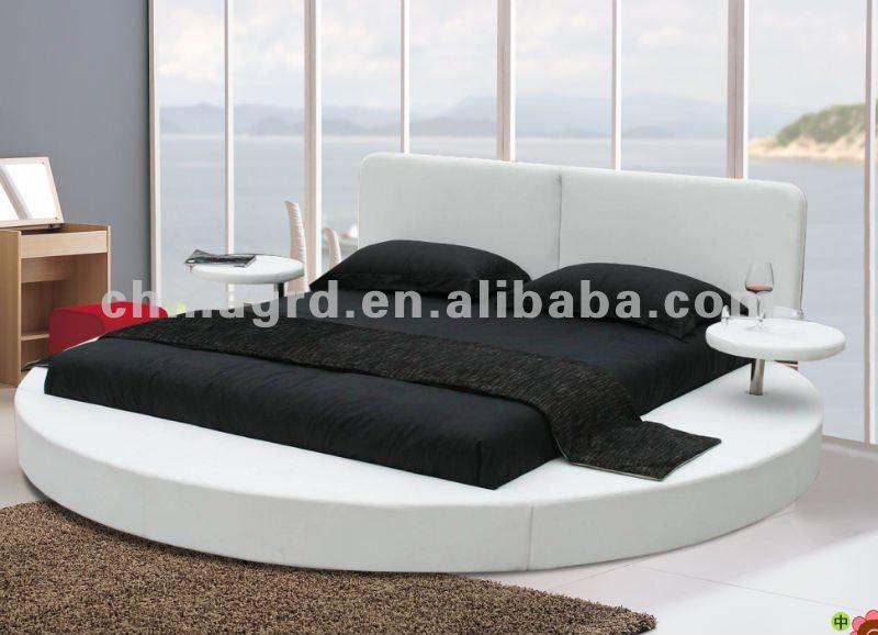 Morbida Pelle Bianca Rotonda Camera da letto mobili In Vendita A ...