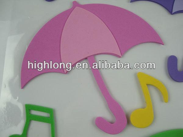 Foam Letters Wall Decor : Umbrella d wall decor eva room sticker buy foam