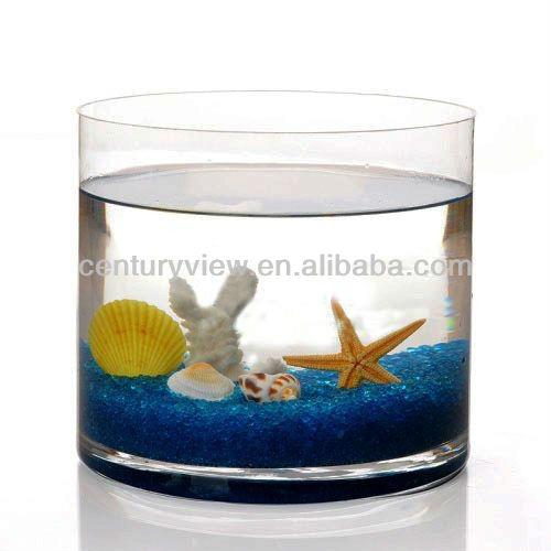 Cylinder Design Home Decoration Glass Fish Bowl