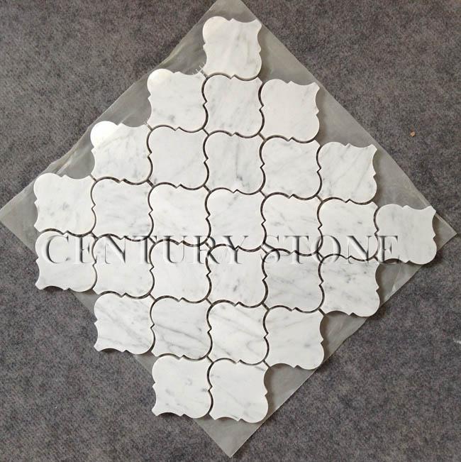 Carrara Marmor Mosaikfliese Laterne Form K 252 Che Wandfliesen