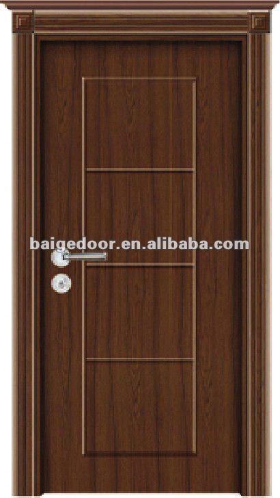 Puertas interiores modernas simple puertas de madera - Puertas interiores de madera ...