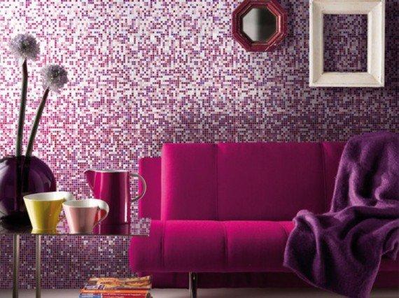 Entertainment Interior Wall Mirror Mosaic Iridescent Paint MU01